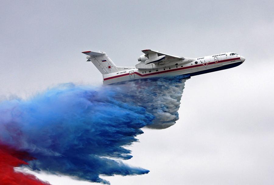 Rusko amfibijsko letalo Beriev Be-200 za gašenje požarov