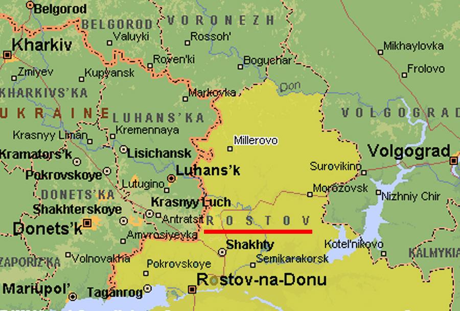 Zemljevid regije Rostov