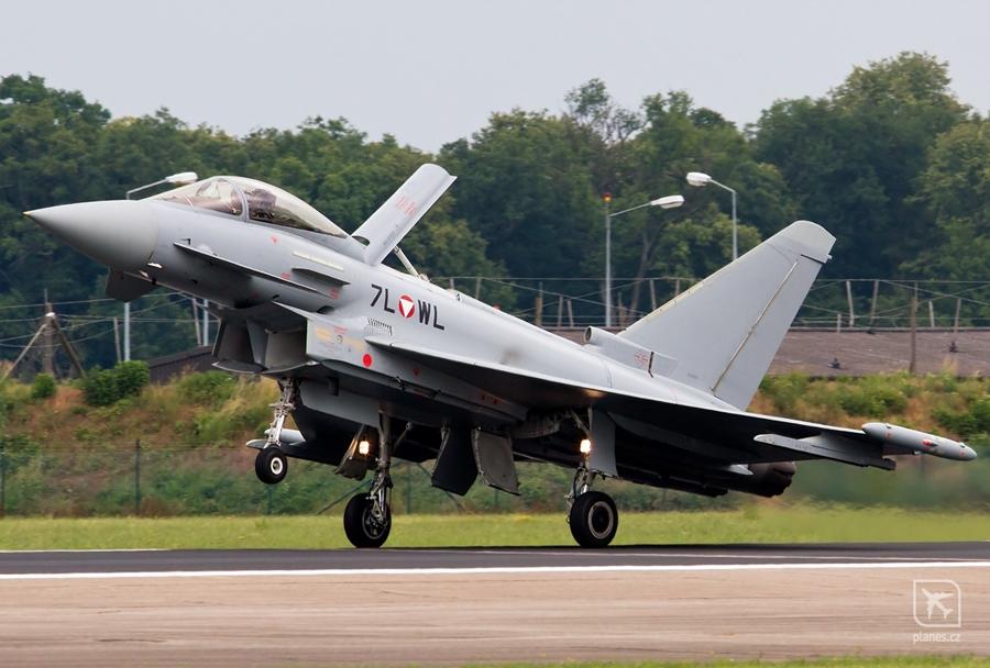 Avstrijski lovec Eurofighter typhoon