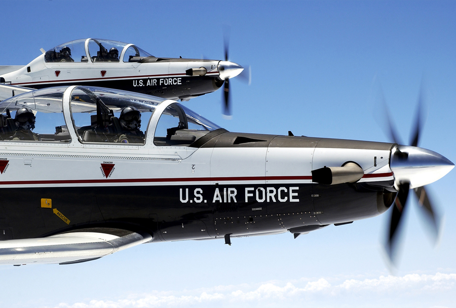 Ameriško trenažno letalo Beechcraft T-6A texas II