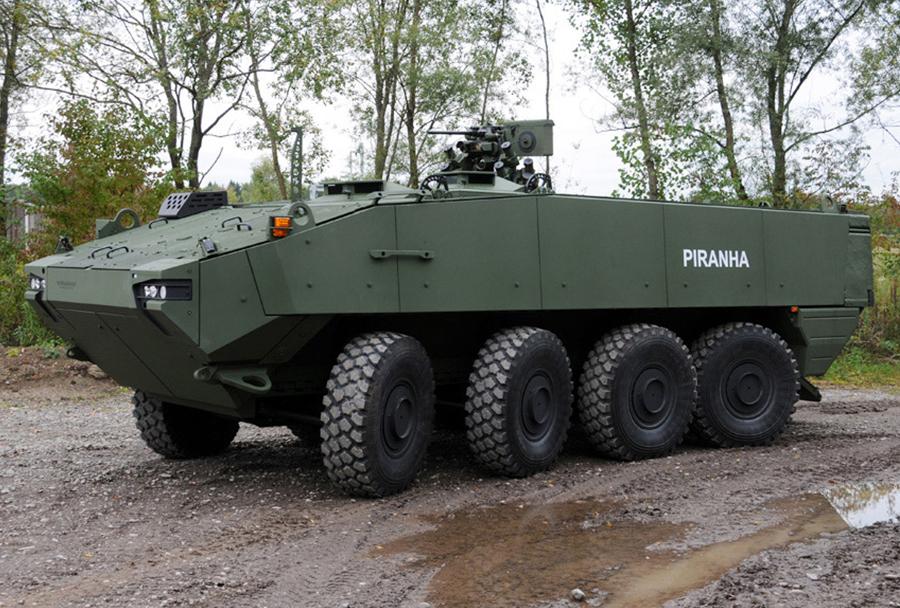 Kolesno oklepno vozilo piranha V 8x8