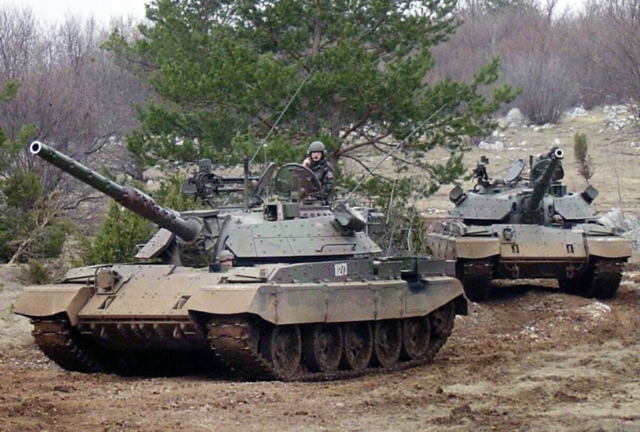 Slovenski tank M-55S (T-55)