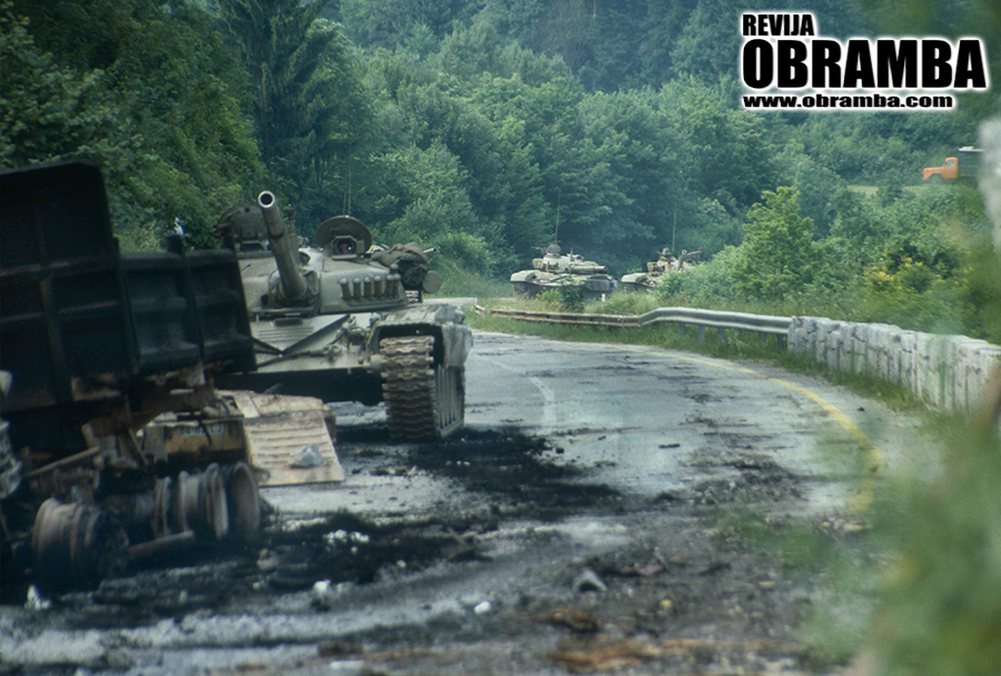 Vojna za Slovenijo: tanki M-84, Logaški klanec 3. julij 1991