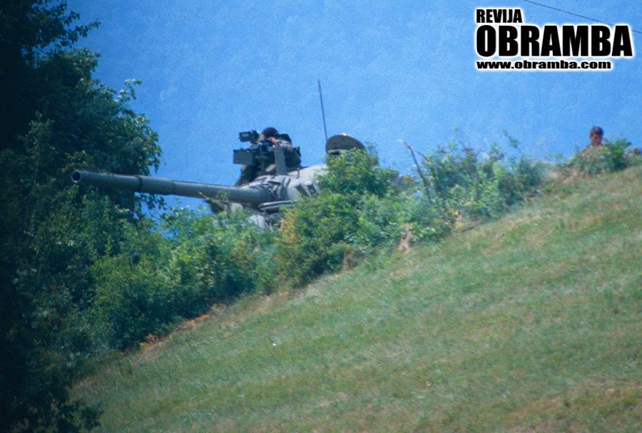 Vojna za Slovenijo: tank M-84, Vrhnika 3. julij 1991