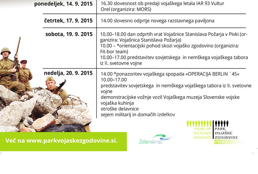 9. festival vojaške zgodovine v Pivki (program)