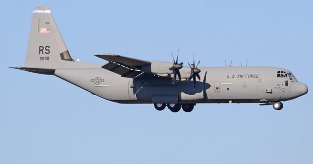 Amerisko vojasko transportno letalo C-130 hercules