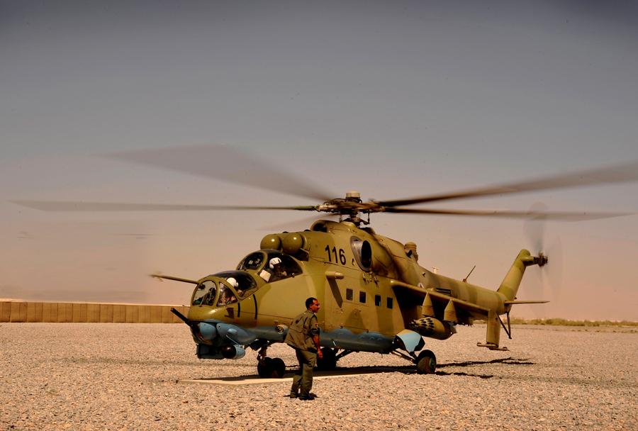 Afganistanski helikopter Mi-35