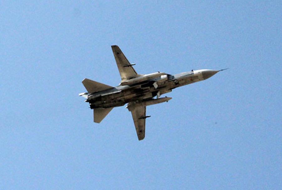 ruski bombnik Suhoj Su-24 v Siriji