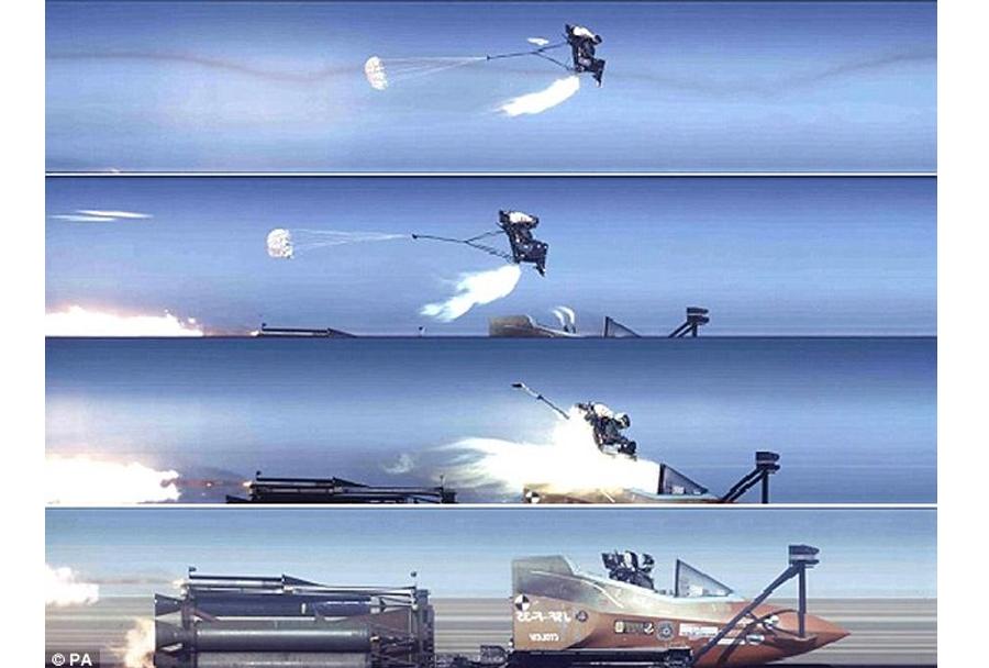 testiranje izmetnega sedeža lovca F-35