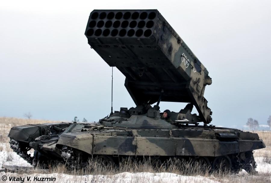večcevni raketomet TOS-1 buratino
