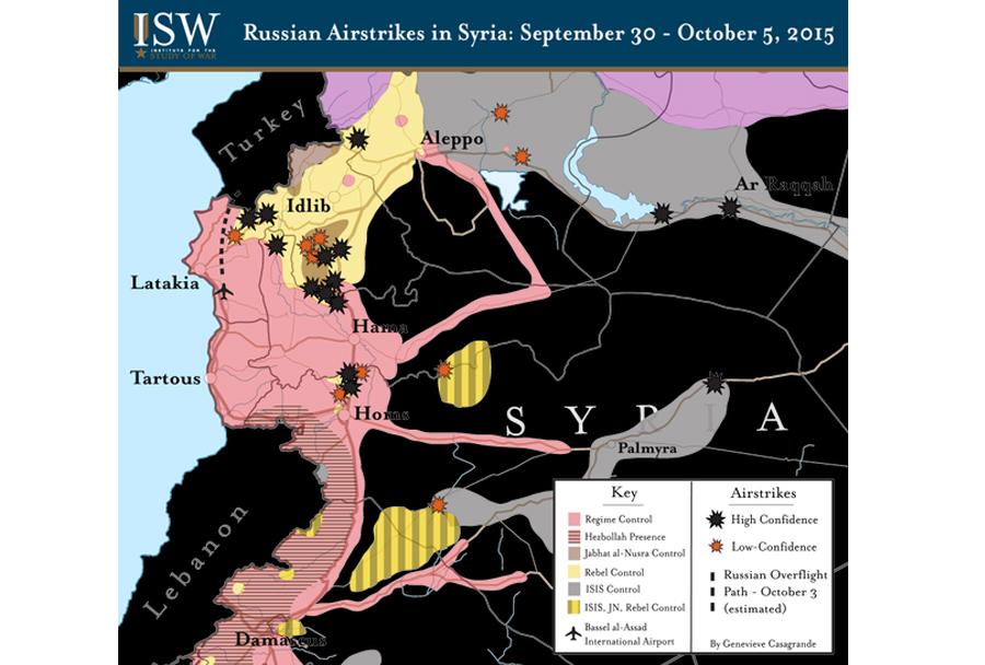 zemljevid spopadov v Siriji