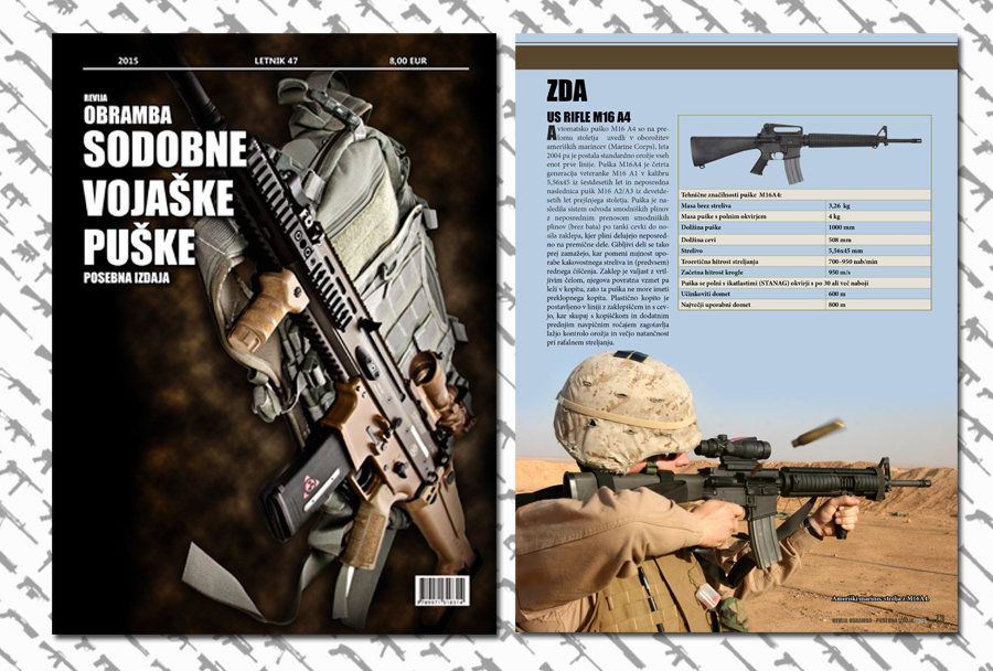 Sodobne vojaške puške - posebna izdaja revija Obramba