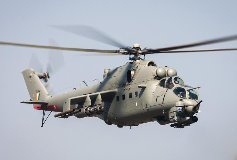 Indijski bojni helikopter Mi-24