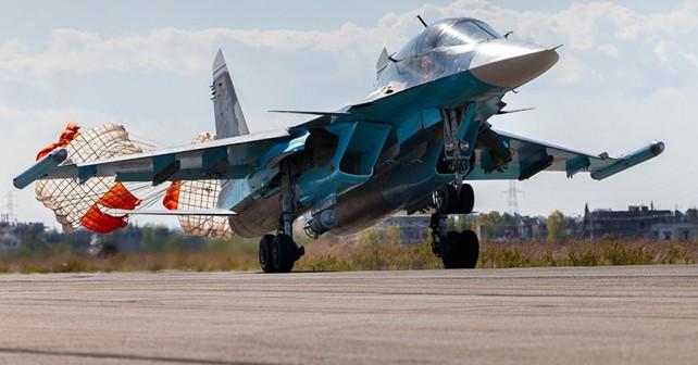 Rusko vojaško letalo Su-34 v Siriji
