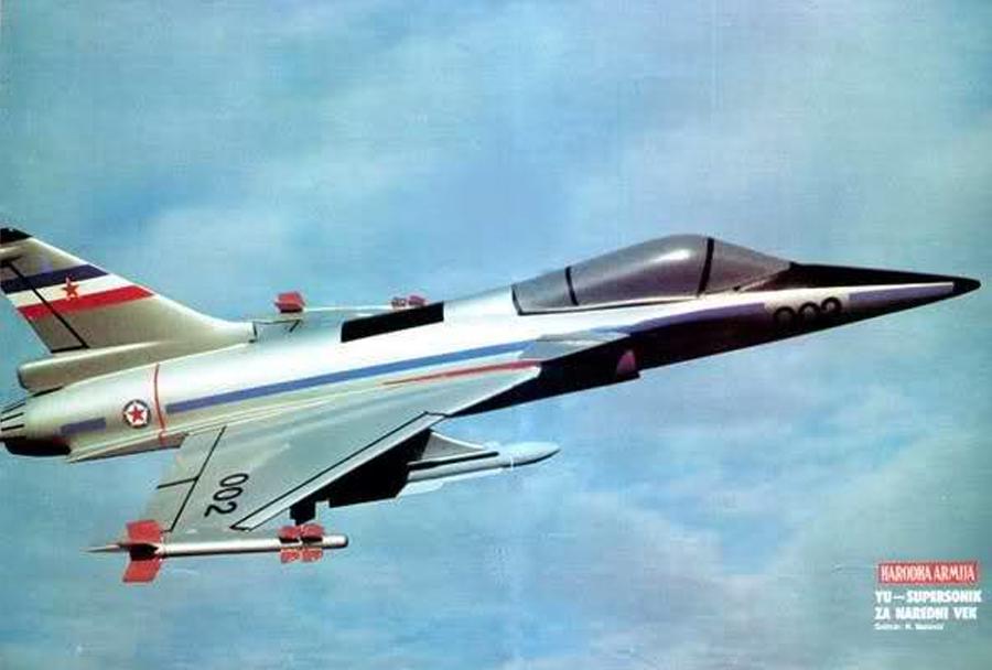 """Jugoslovanski koncept bojnega letala """"novi avion"""""""