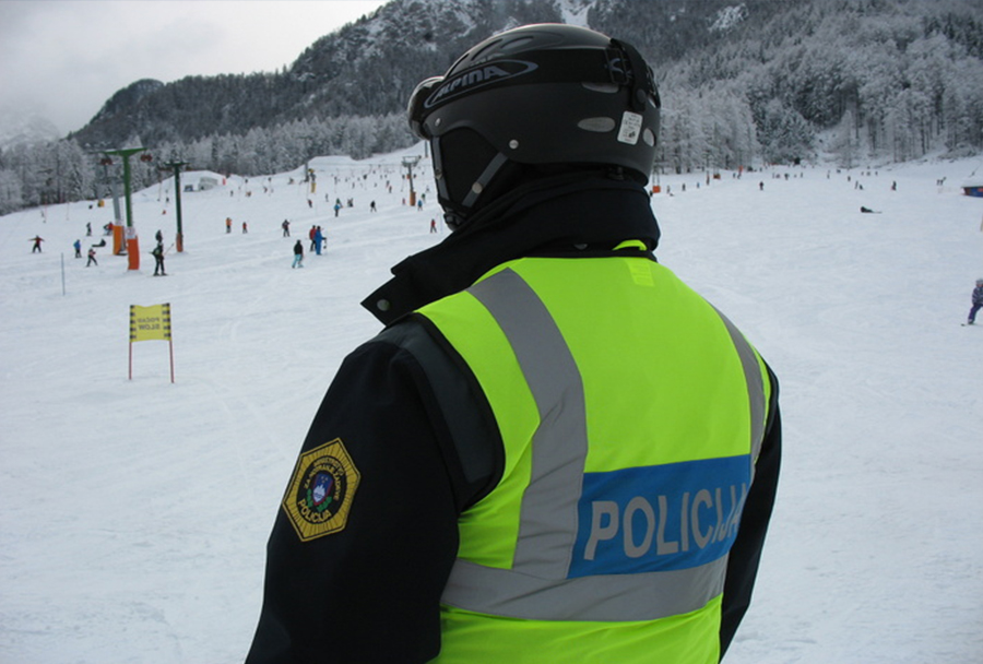 Policija na smučišču