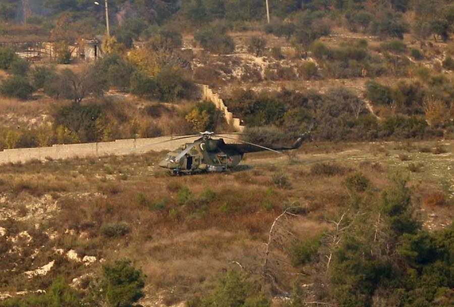 Ruski helikopter Mi-8 v Siriji pred uničenjem