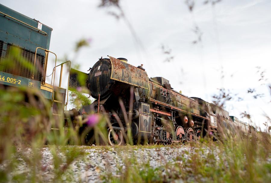 Parna lokomotiva 33-110 na poti v Park vojaške zgodovine Pivka