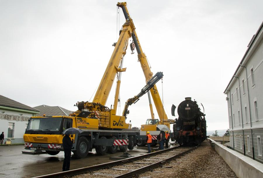 Parna lokomotiva 33-110 v Parku vojaške zgodovine Pivka