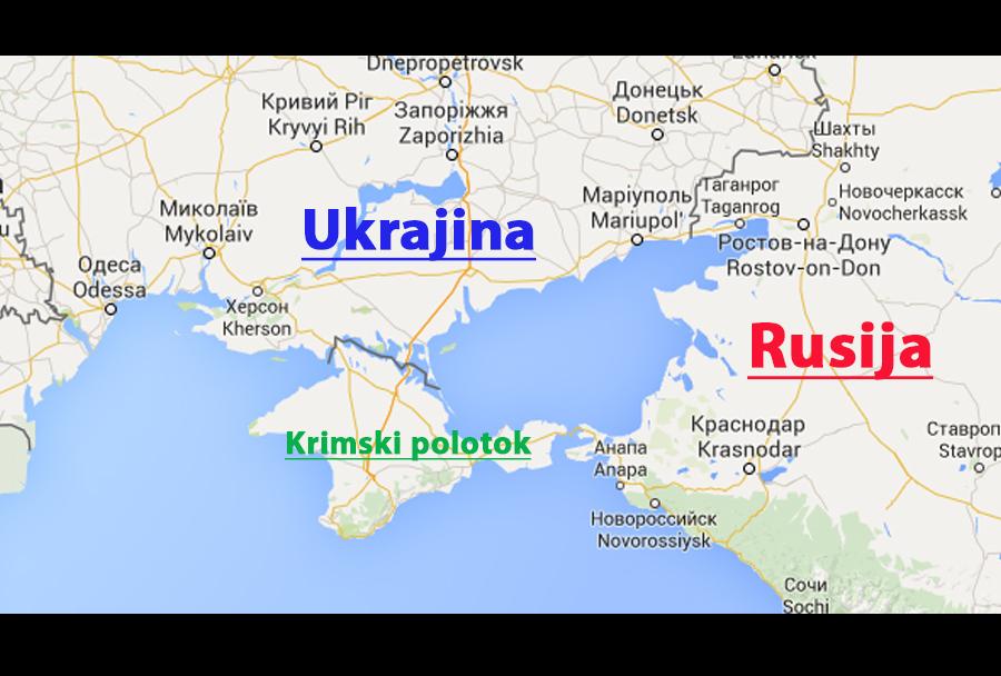 Krimski polotoko - zemljevid