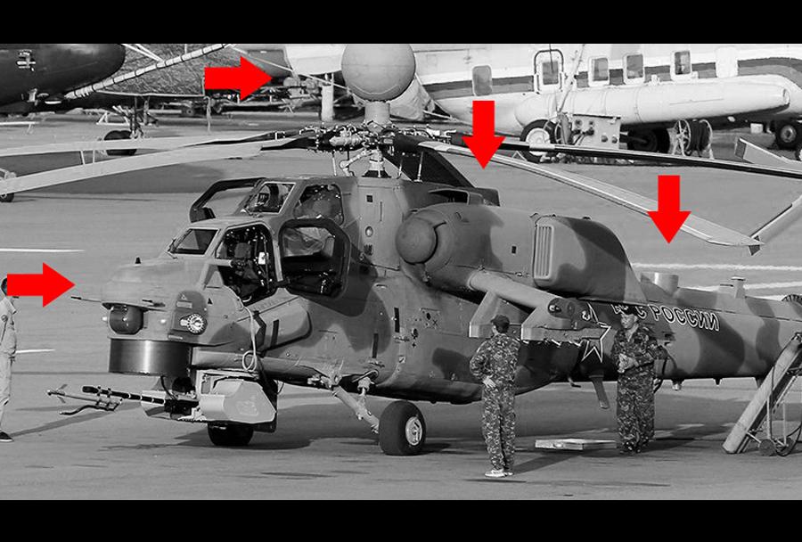 Novi jurišni helikopter Mi-28NM (in razlike napram Mi-28NE)