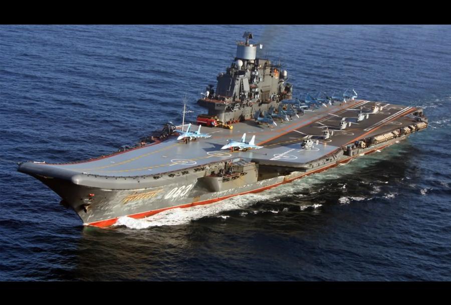 Ruska letalonosilka Admiral Kuznetsov