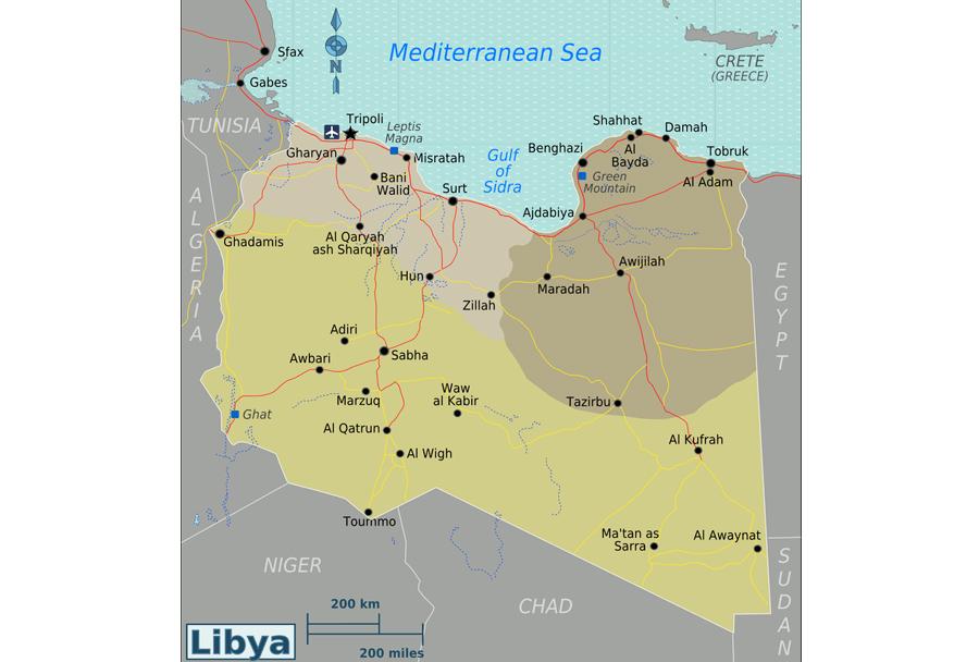 libija-zemljevid