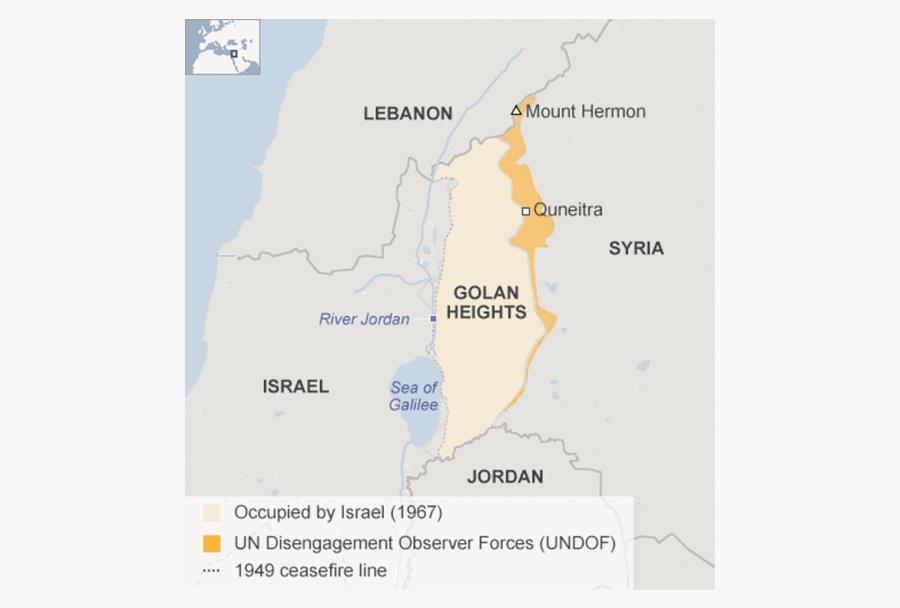 Golanska planota - spor med Sirijo in Izraelom