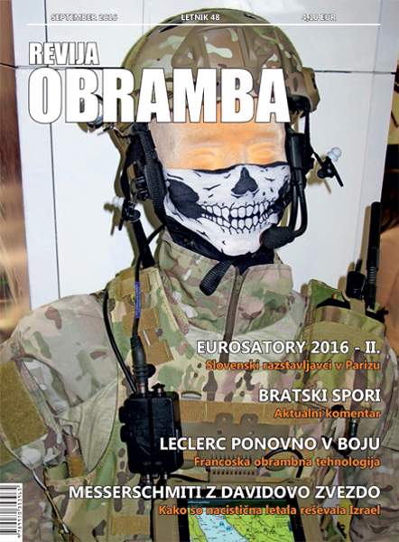 Revija Obramba, september 2016 - naslovka