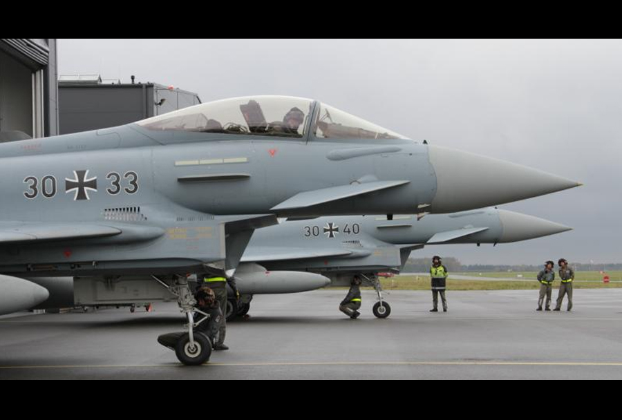 Nemški lovci Eurofighter typhoon v Estoniji
