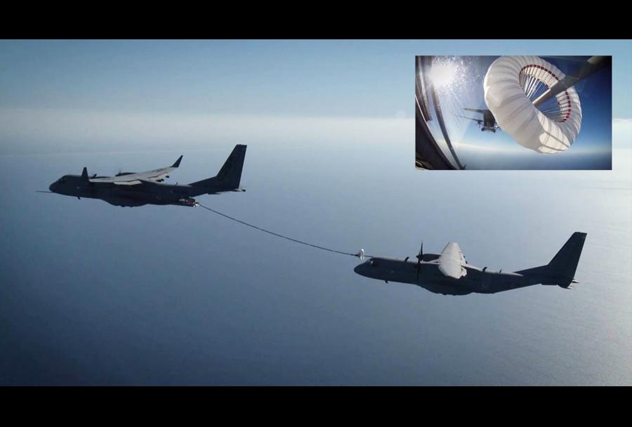 Prečrpavanje goriva v zraku iz letala Airbus C295W