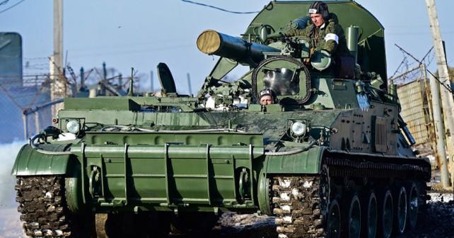 Ruska samovozni minomet 2S4 tyulpan kalibra 240mm.