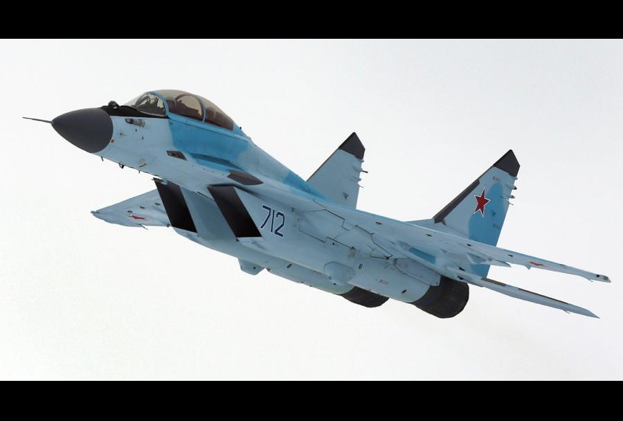 Testiranja lovca MiG-35 v zraku.