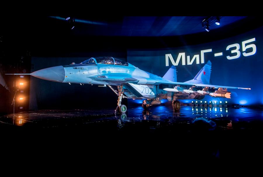 Prestavitev novega ruskega lovca MiG-35.