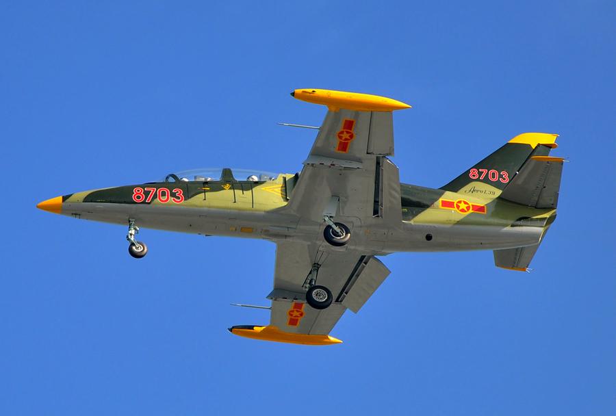 Trenažno bojno-letalo L-39 albatros.