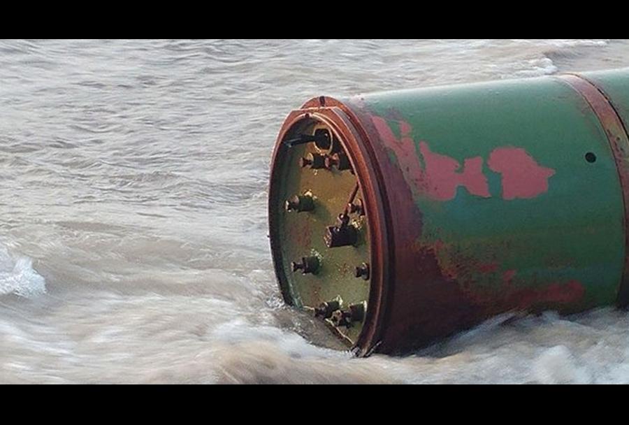 Ruski torpedo na plaži v bližini litovsko-ruske meje.