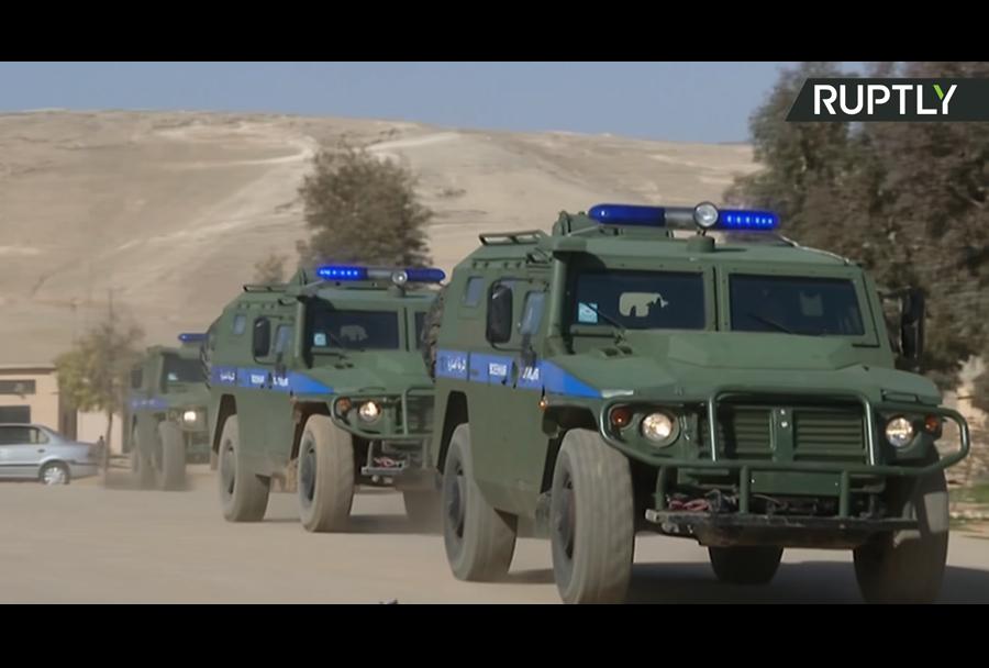 Ruski oklepniki tigr-4x4 v Siriji.