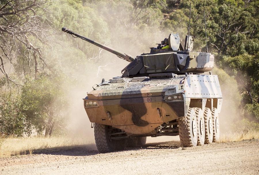 Oklepnik BAE Systems-Patria AMV35 - testiranja v Avstraliji