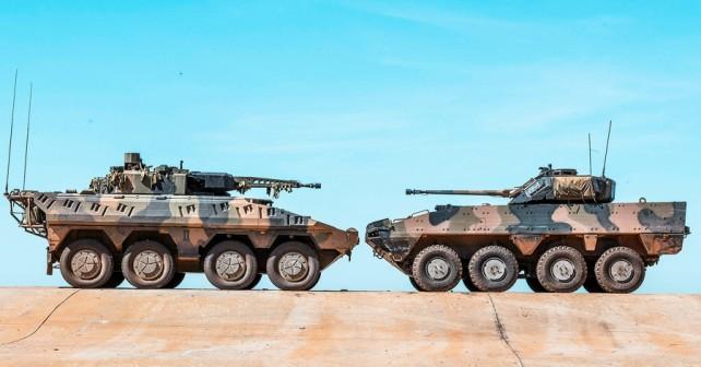Rheinmetall boxer CRV in BAE Systems-Patria AMV35