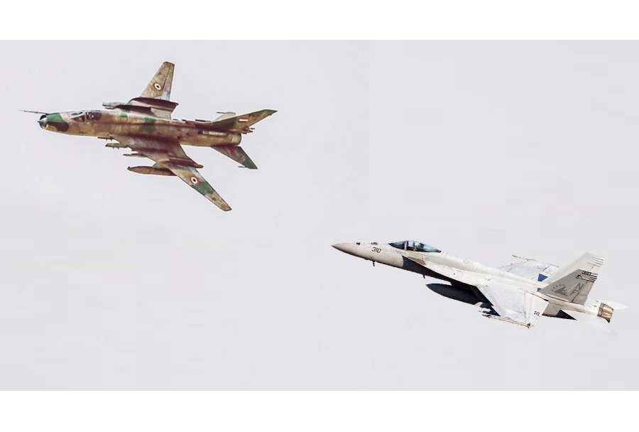 Su-22 in F/A-18 super hornet