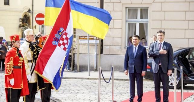 Obisk ukrajinskega premiera Vladimirja Grojsmana v Zagrebu