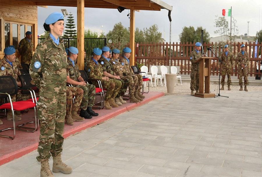 Majorka Nina Raduha ob menjavi kontingenta UNIFIL