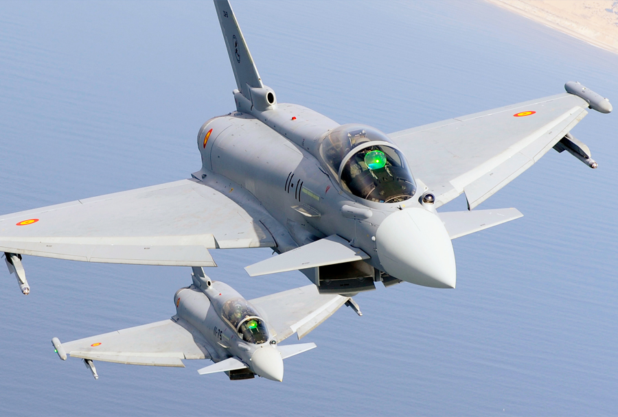 Španska lovca Eurofighter typhoon