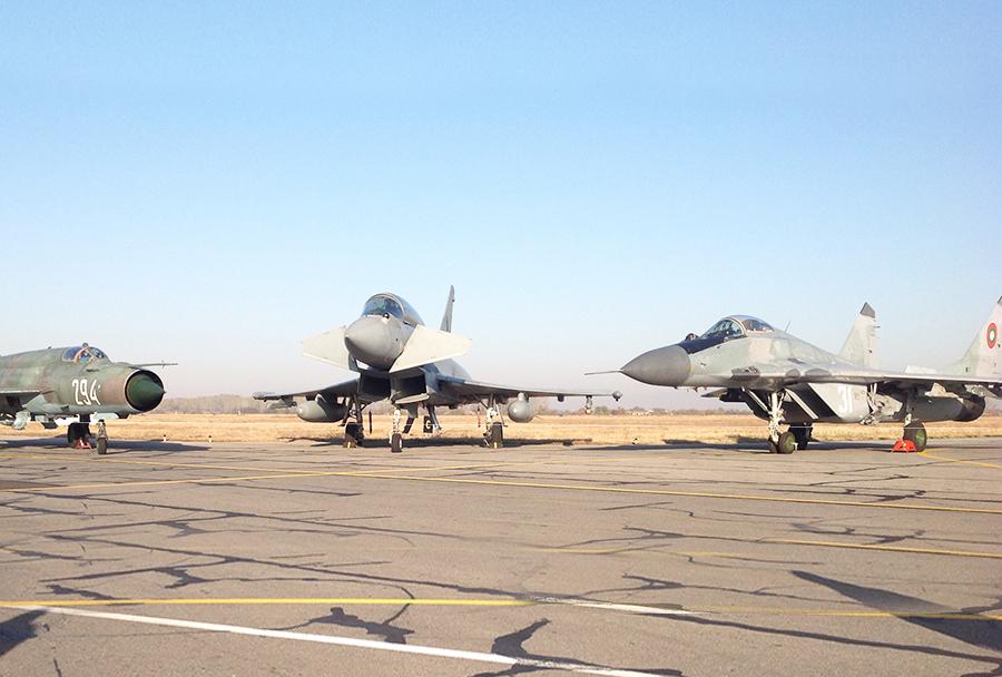 Italijanski eurofighter v Bolgariji