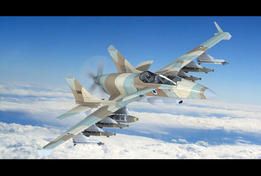 Koncept jurišnega letala Stavatti SM27T machete