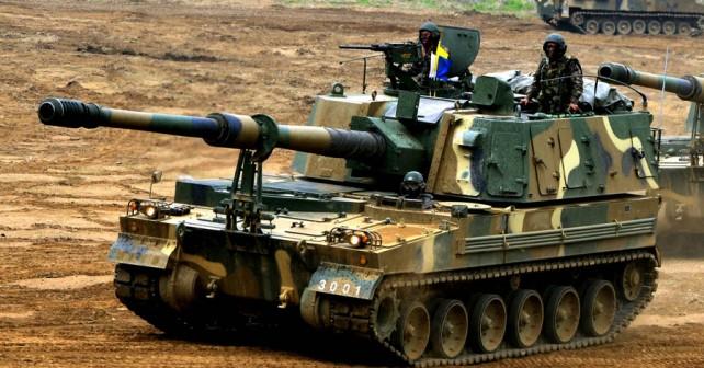Južnokorejska samovozna havbica K9 thunder