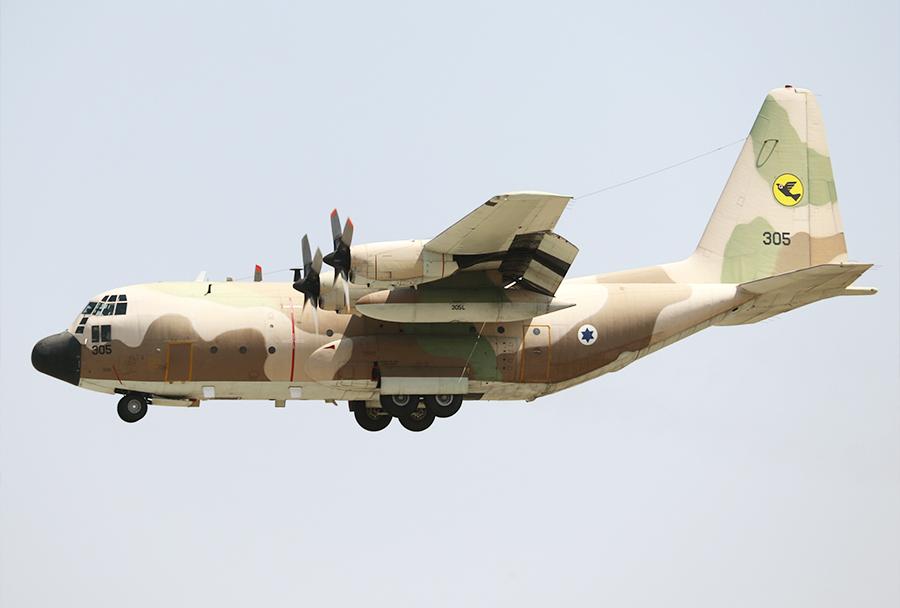 Izraelski C-130E med pristajanjem na Petrovec 8. avgusta 2017. (Foto: I. Božinovski)