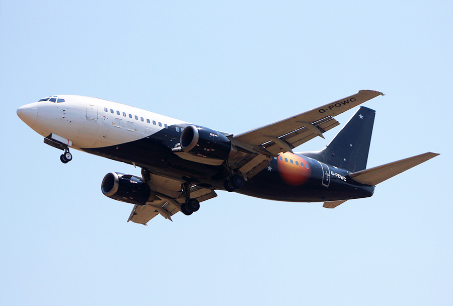 Boeing 737-33A(QC) z registrsko oznako G-POWC je na skopsko letališče priletel iz Manchestra (let ZT 7521) 7. Avgusta ob 12.50. (Foto: D. Cvetić)
