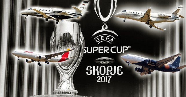 EUFA superpokal 2017 v Skopju - Real Madrid vs. Manchester United