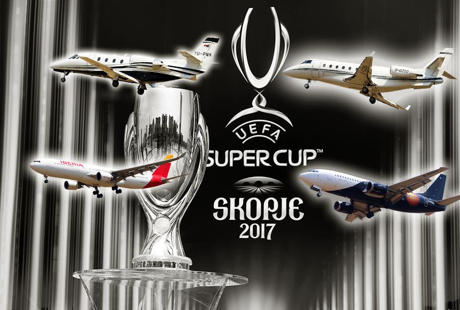 EUFA superpokal 2017 v Skopju - Real Madrid vs. Manchester United